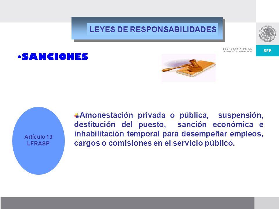 SANCIONES LEYES DE RESPONSABILIDADES