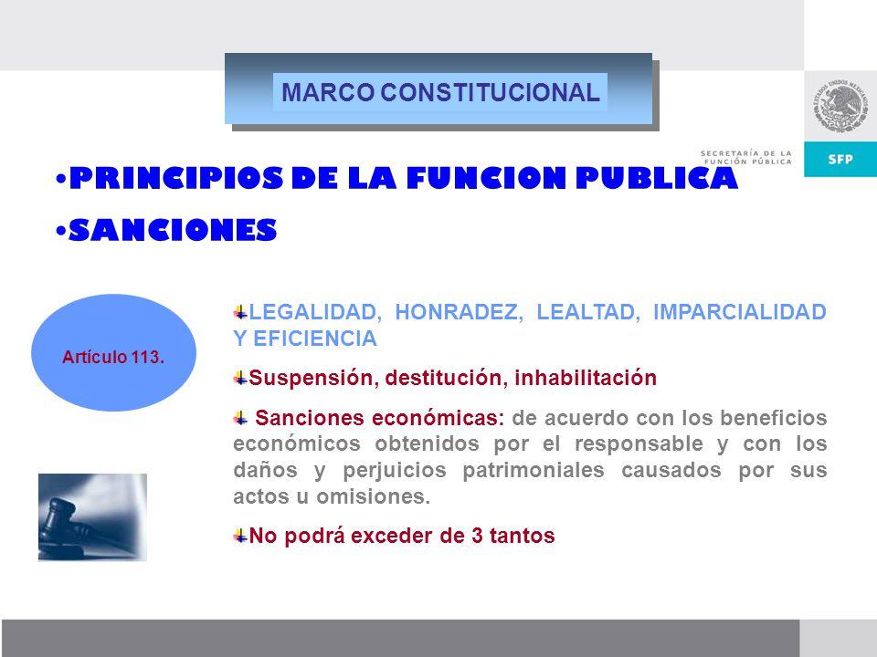 PRINCIPIOS DE LA FUNCION PUBLICA SANCIONES