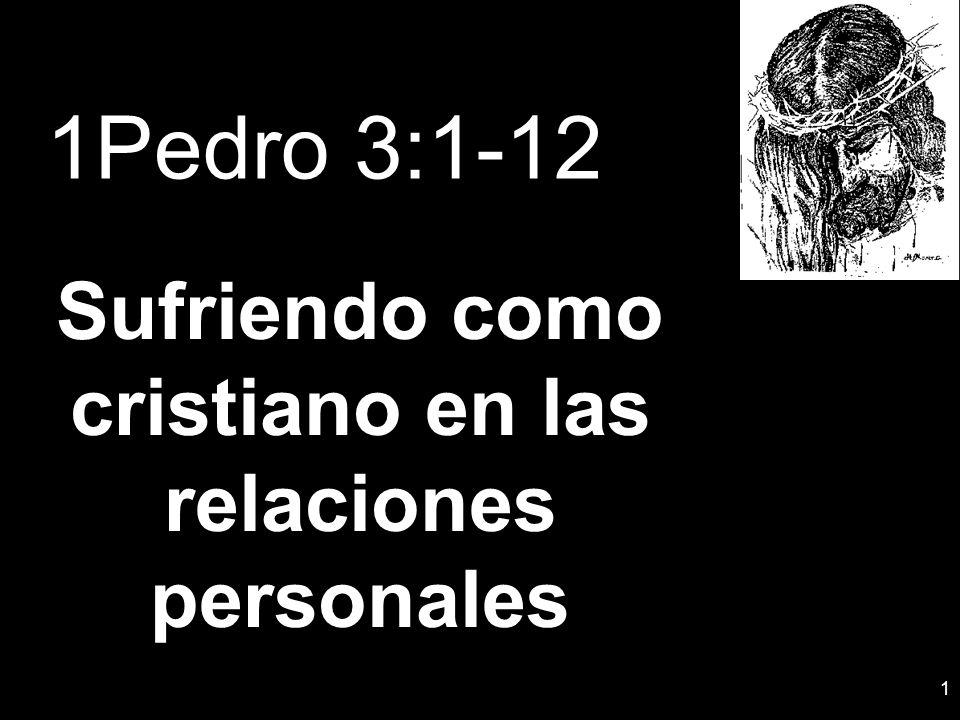Sufriendo como cristiano en las relaciones personales