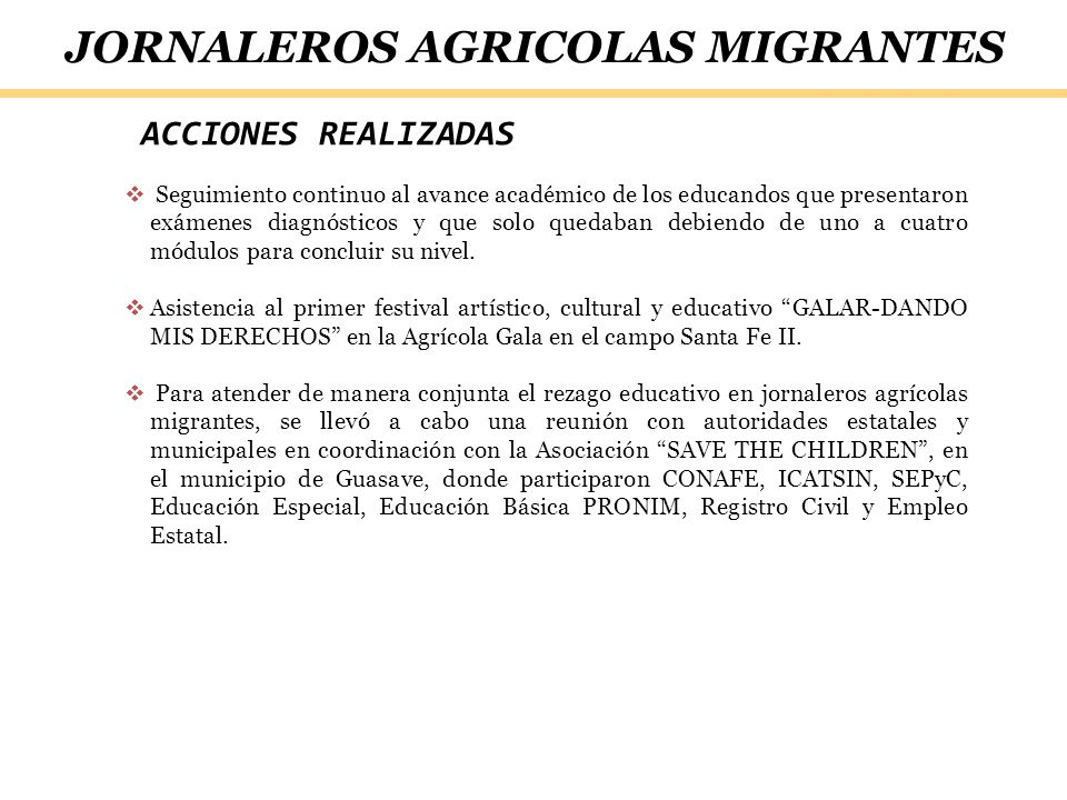 JORNALEROS AGRICOLAS MIGRANTES