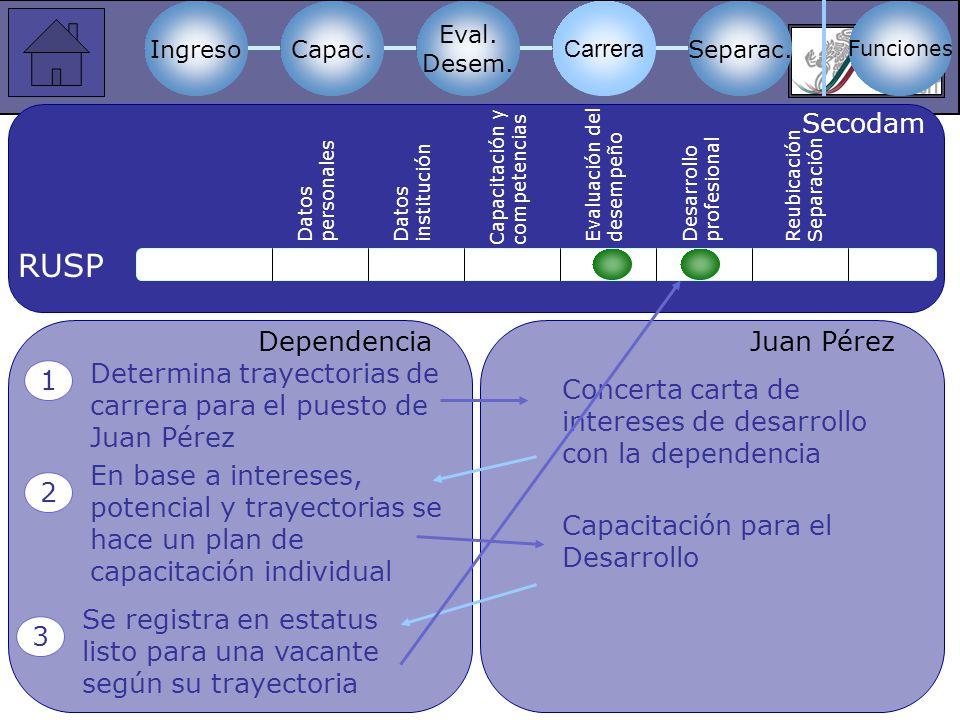 a RUSP Secodam Dependencia Juan Pérez