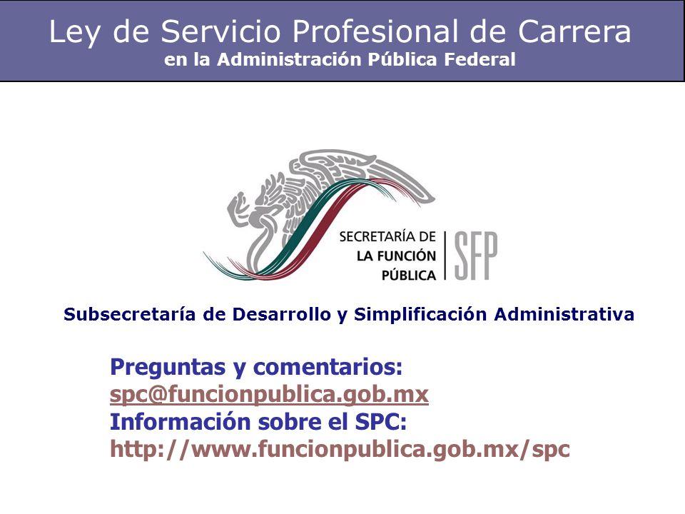 Ley de Servicio Profesional de Carrera