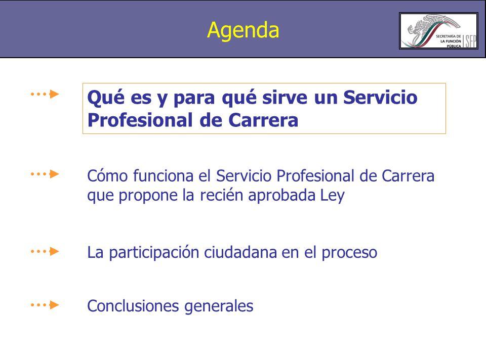 Agenda Qué es y para qué sirve un Servicio Profesional de Carrera