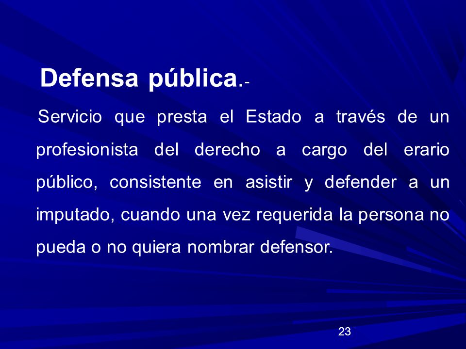 Defensa pública.-