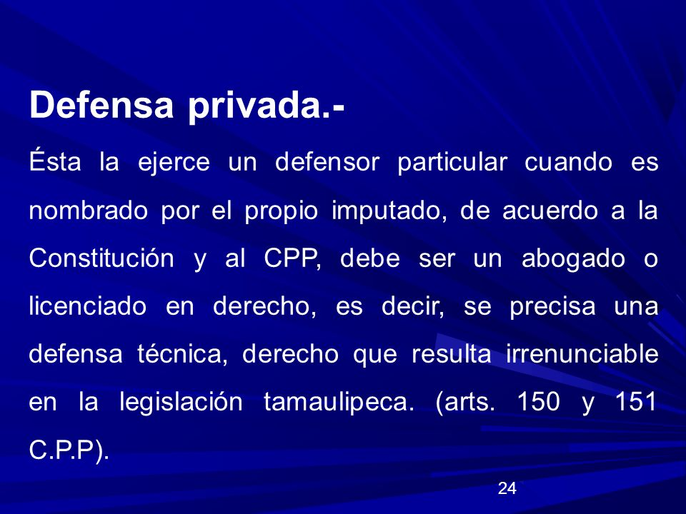 Defensa privada.-