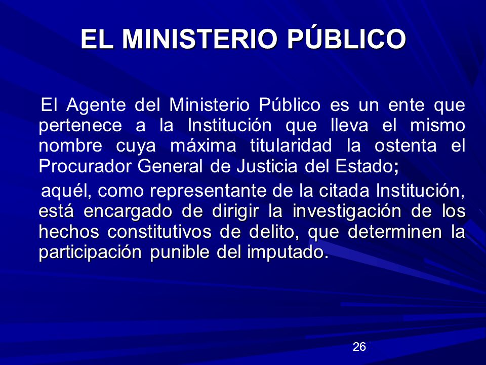 EL MINISTERIO PÚBLICO