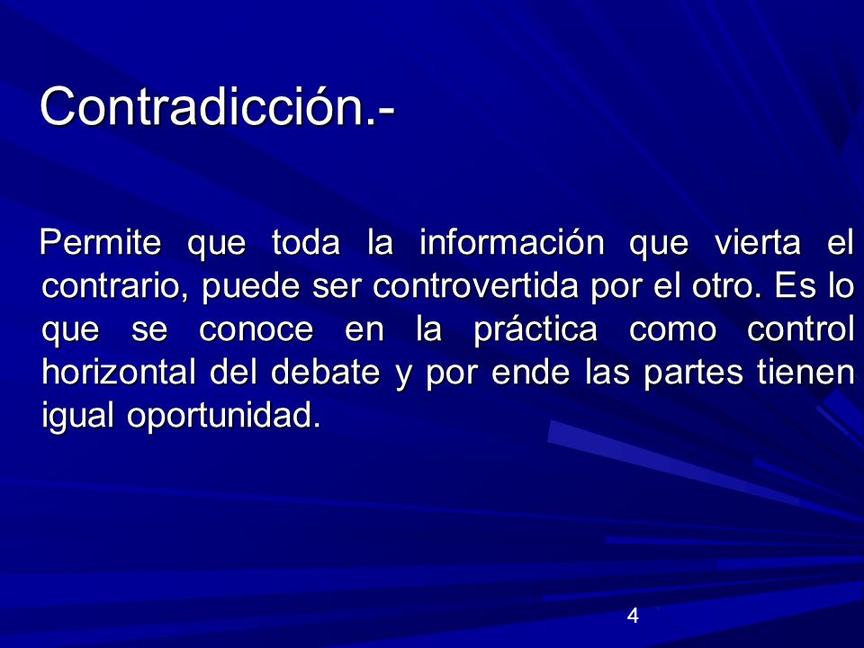 Contradicción.-
