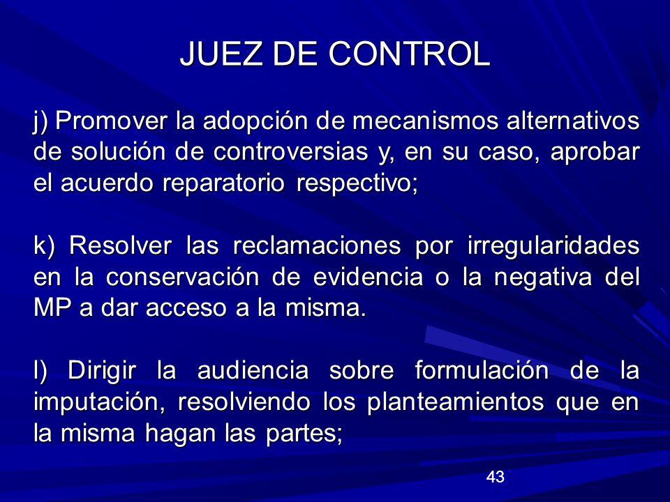 JUEZ DE CONTROL