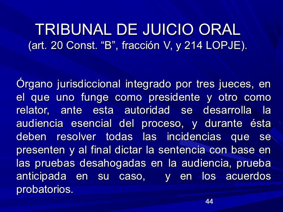 TRIBUNAL DE JUICIO ORAL