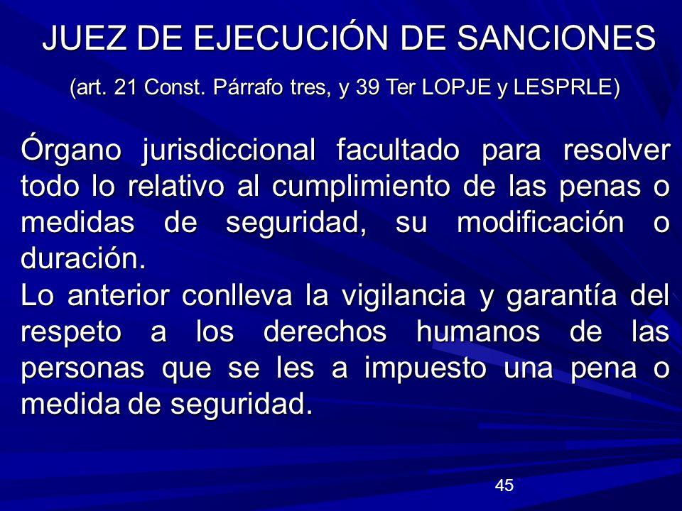 JUEZ DE EJECUCIÓN DE SANCIONES