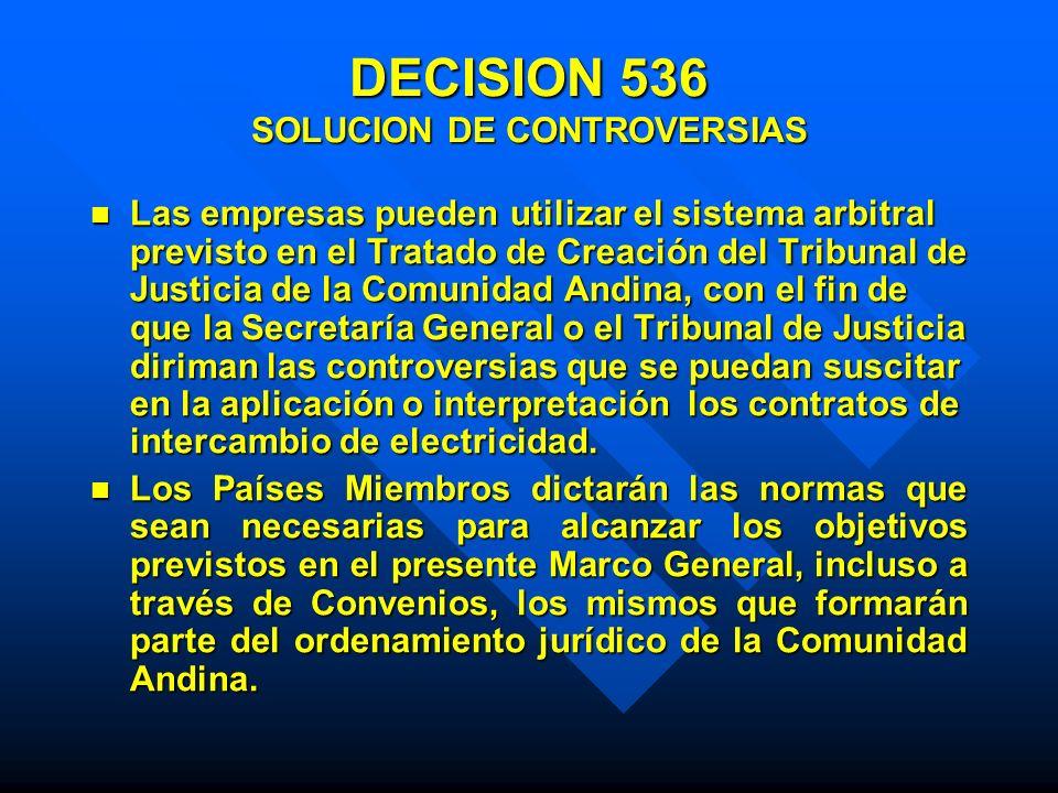 DECISION 536 SOLUCION DE CONTROVERSIAS