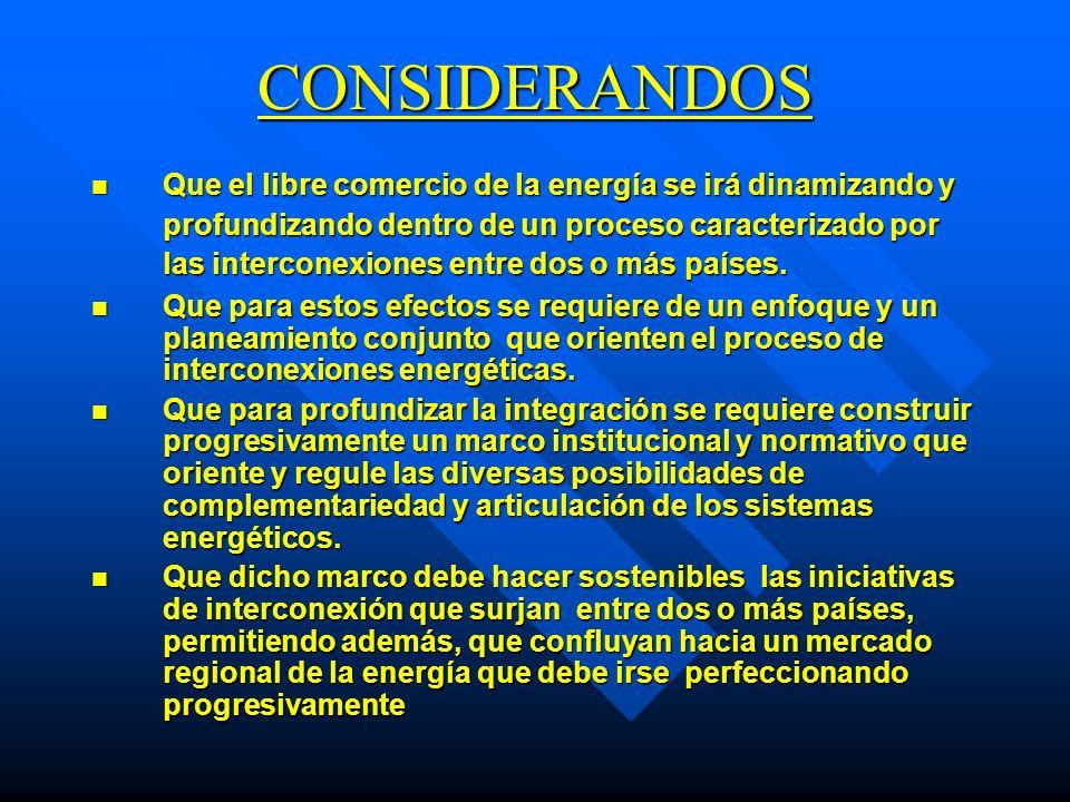 CONSIDERANDOS