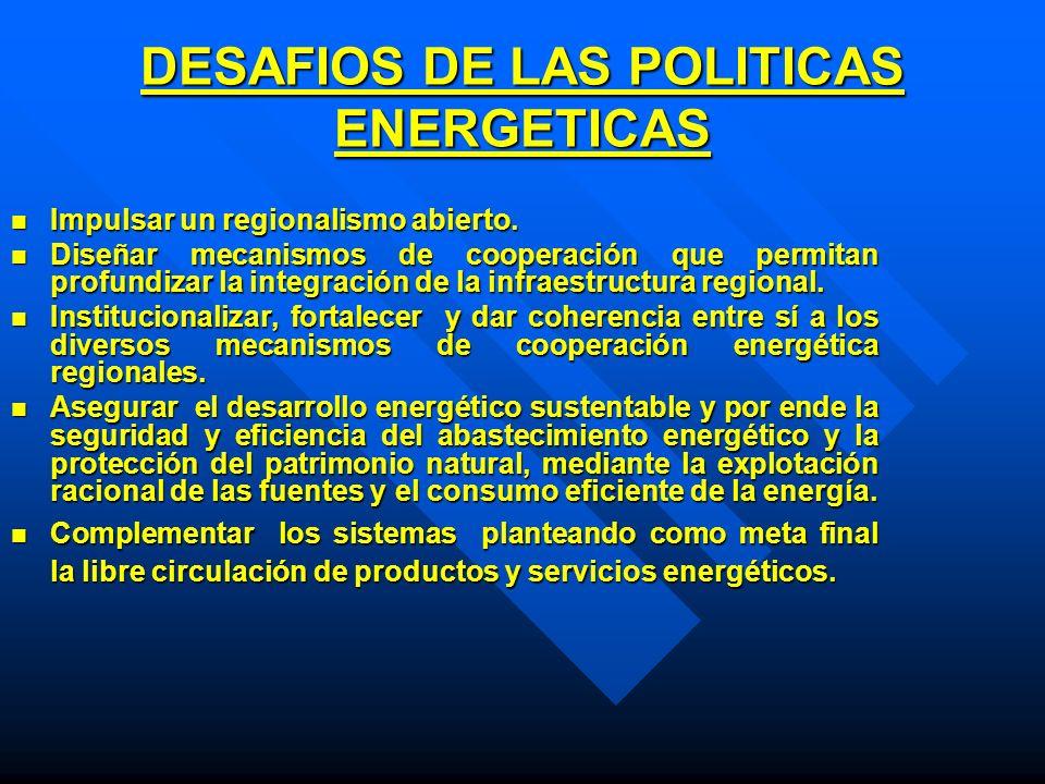 DESAFIOS DE LAS POLITICAS ENERGETICAS