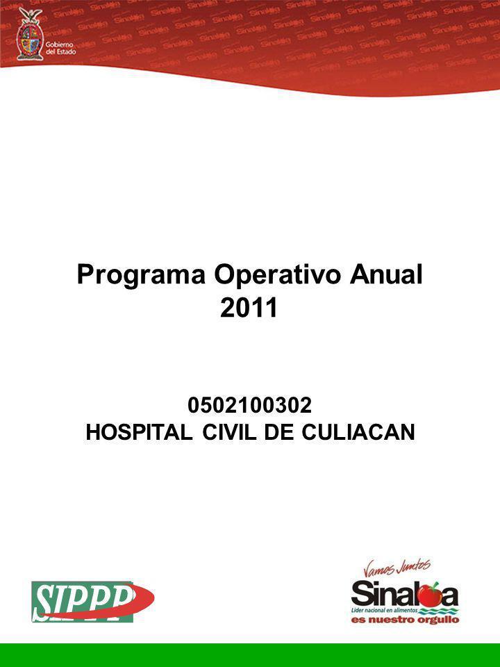 Programa Operativo Anual HOSPITAL CIVIL DE CULIACAN