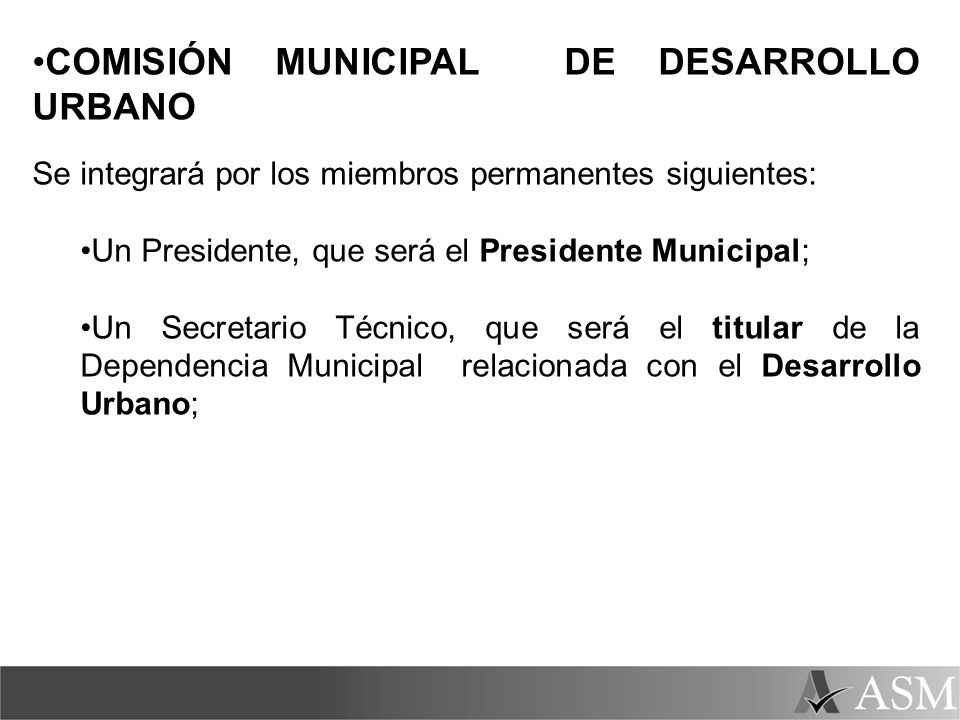 COMISIÓN MUNICIPAL DE DESARROLLO URBANO