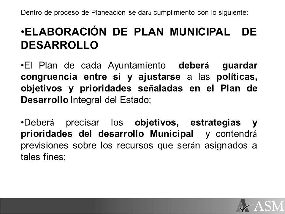 ELABORACIÓN DE PLAN MUNICIPAL DE DESARROLLO