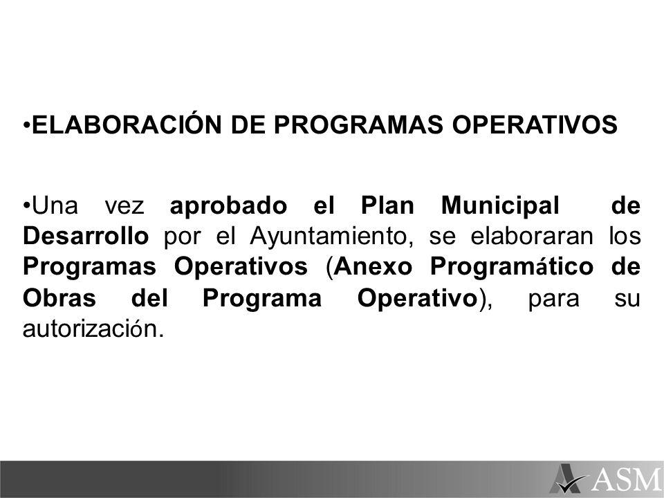 ELABORACIÓN DE PROGRAMAS OPERATIVOS