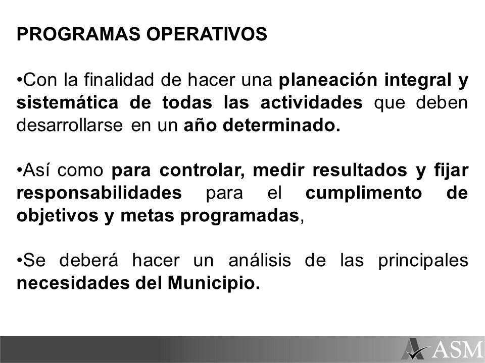 PROGRAMAS OPERATIVOS