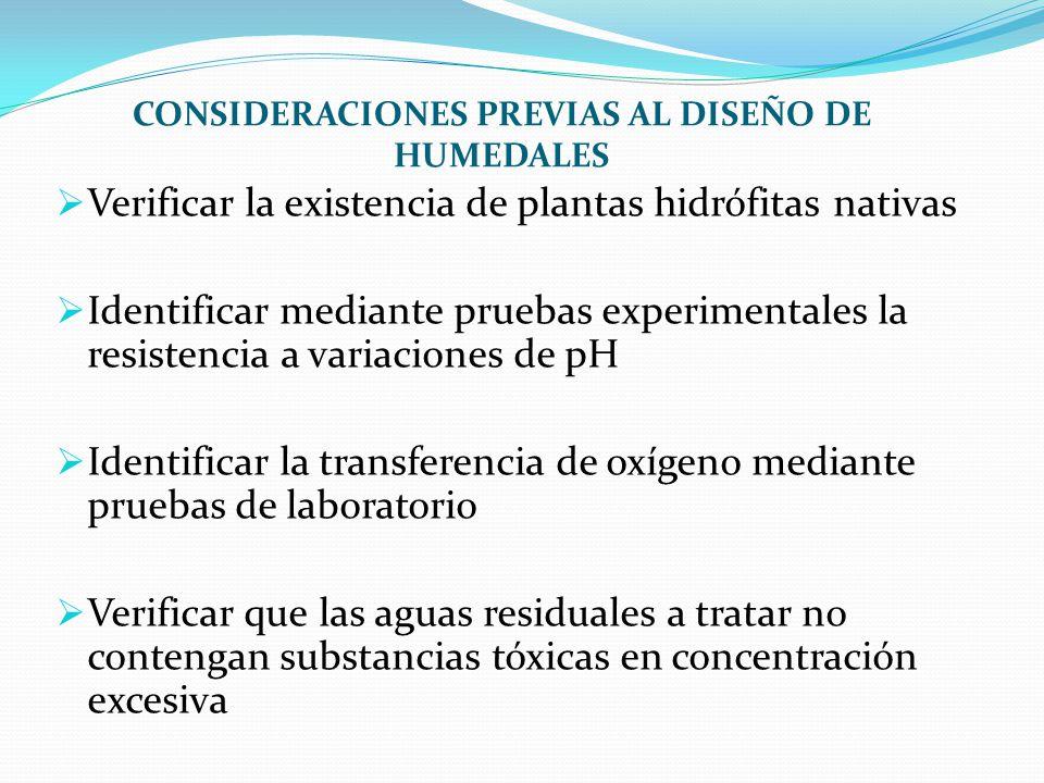 CONSIDERACIONES PREVIAS AL DISEÑO DE HUMEDALES