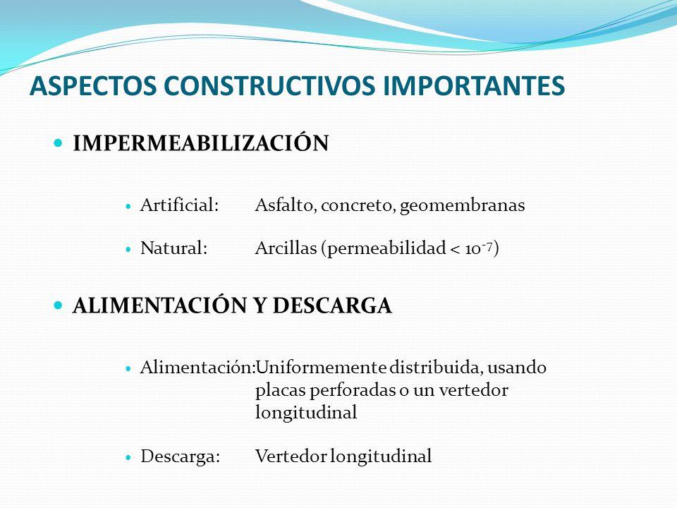 ASPECTOS CONSTRUCTIVOS IMPORTANTES