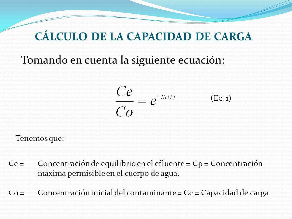 CÁLCULO DE LA CAPACIDAD DE CARGA