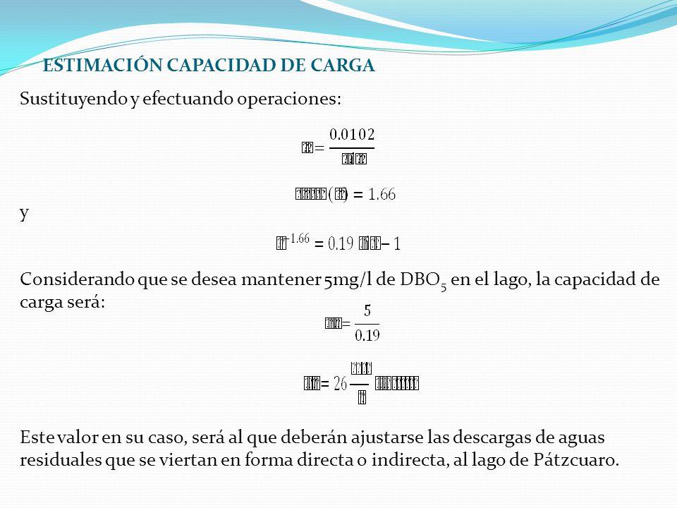ESTIMACIÓN CAPACIDAD DE CARGA