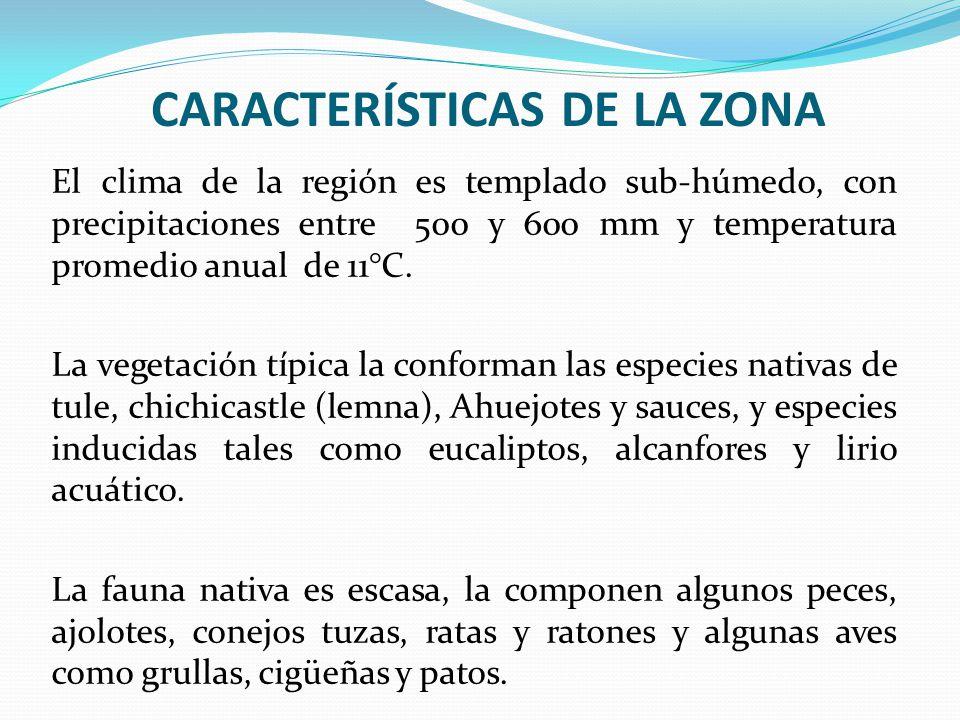 CARACTERÍSTICAS DE LA ZONA