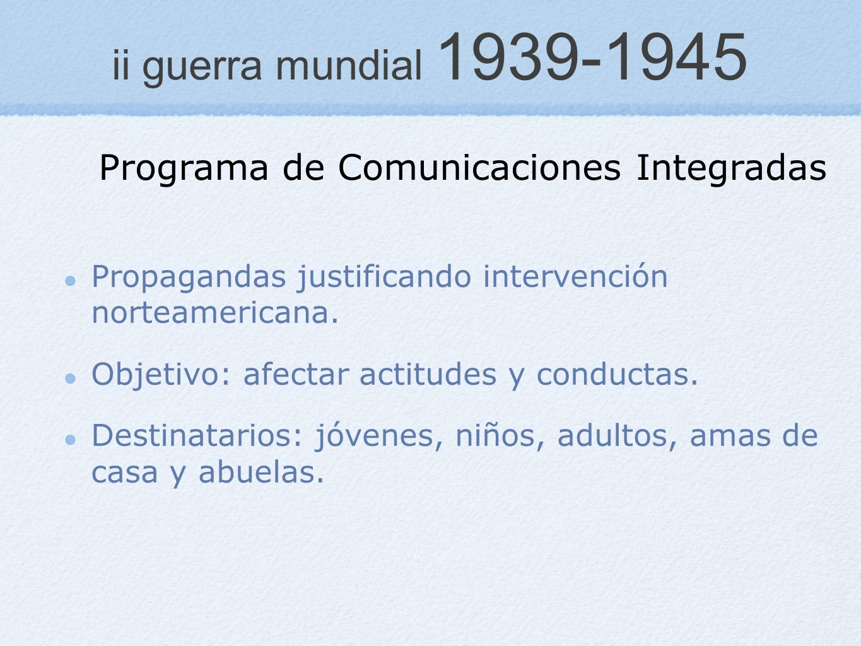 ii guerra mundial 1939-1945 Programa de Comunicaciones Integradas