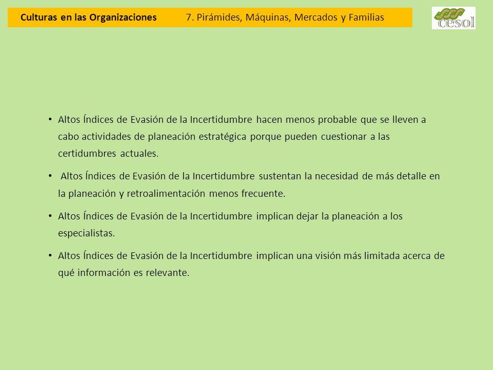 Culturas en las Organizaciones. 7