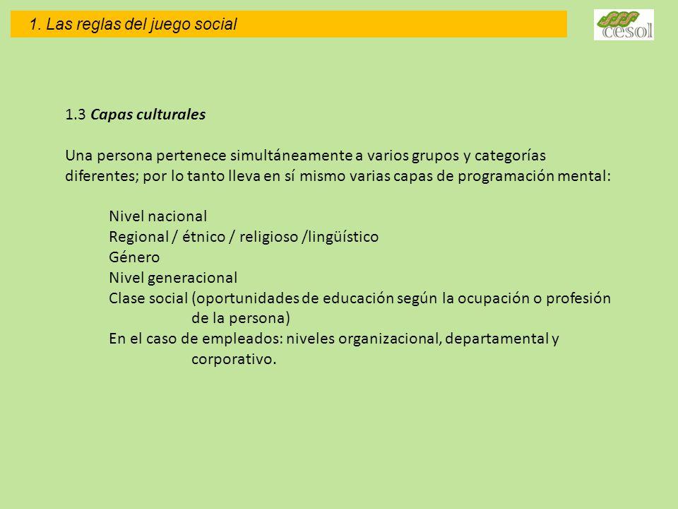 Regional / étnico / religioso /lingüístico Género Nivel generacional