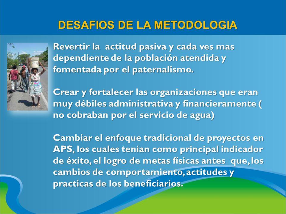 DESAFIOS DE LA METODOLOGIA