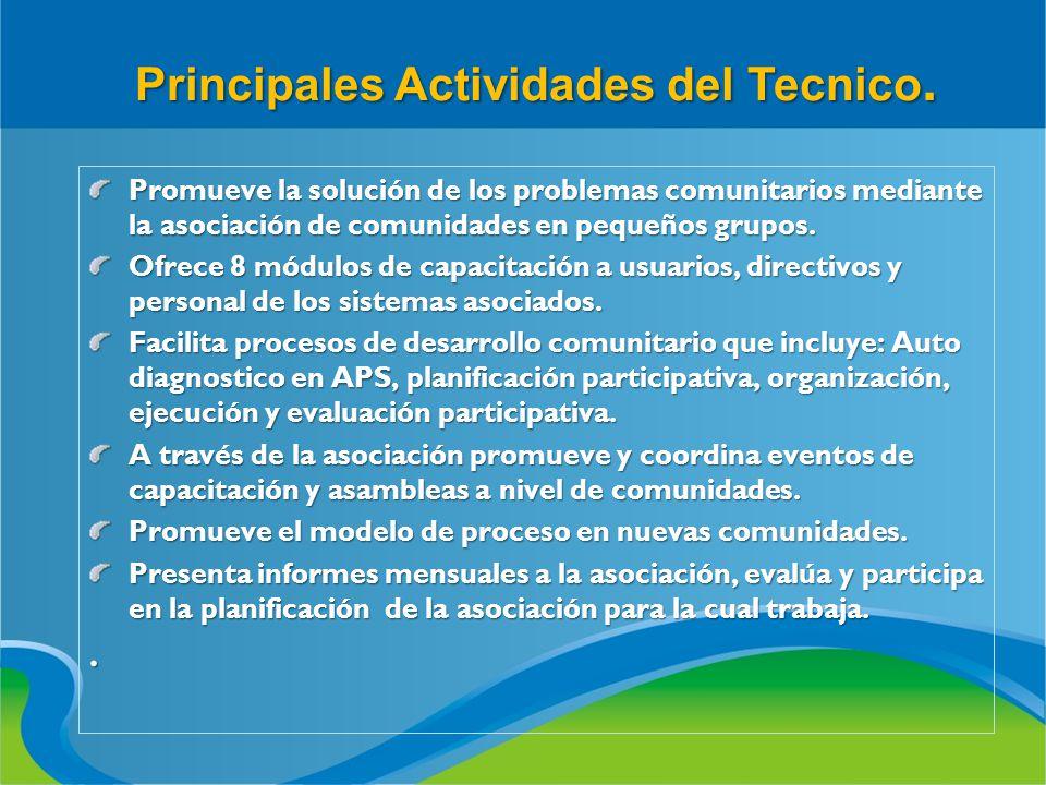 Principales Actividades del Tecnico.