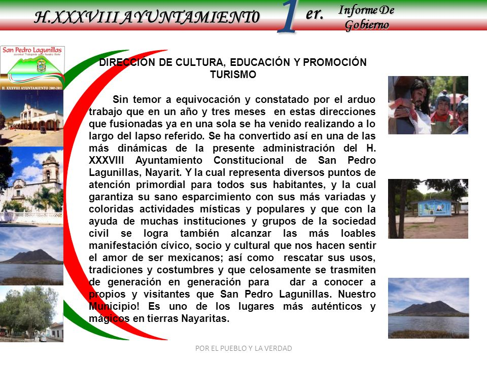 DIRECCIÓN DE CULTURA, EDUCACIÓN Y PROMOCIÓN TURISMO