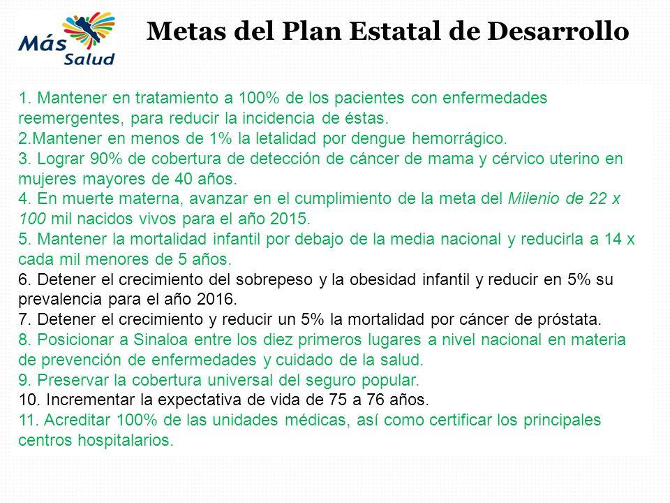 Metas del Plan Estatal de Desarrollo