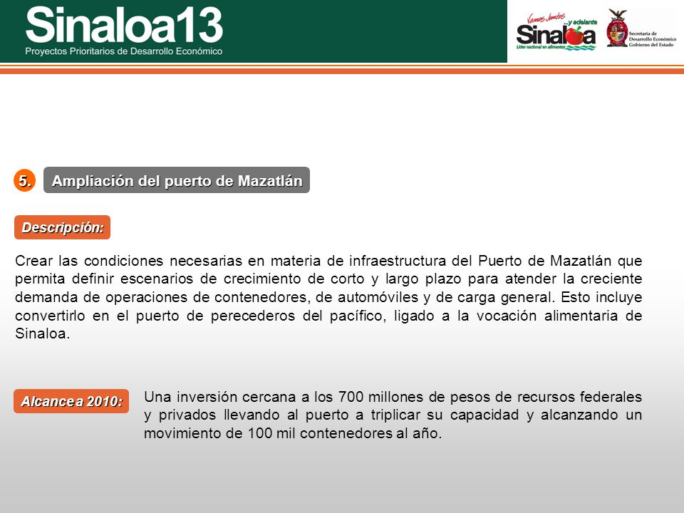 Ampliación del puerto de Mazatlán