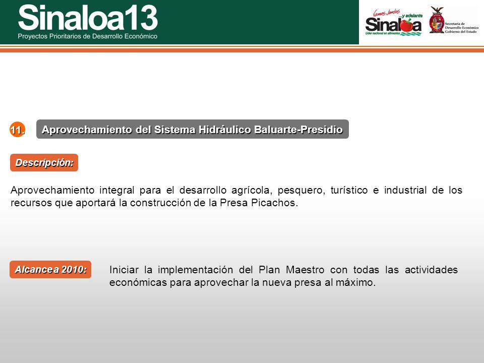 Aprovechamiento del Sistema Hidráulico Baluarte-Presidio