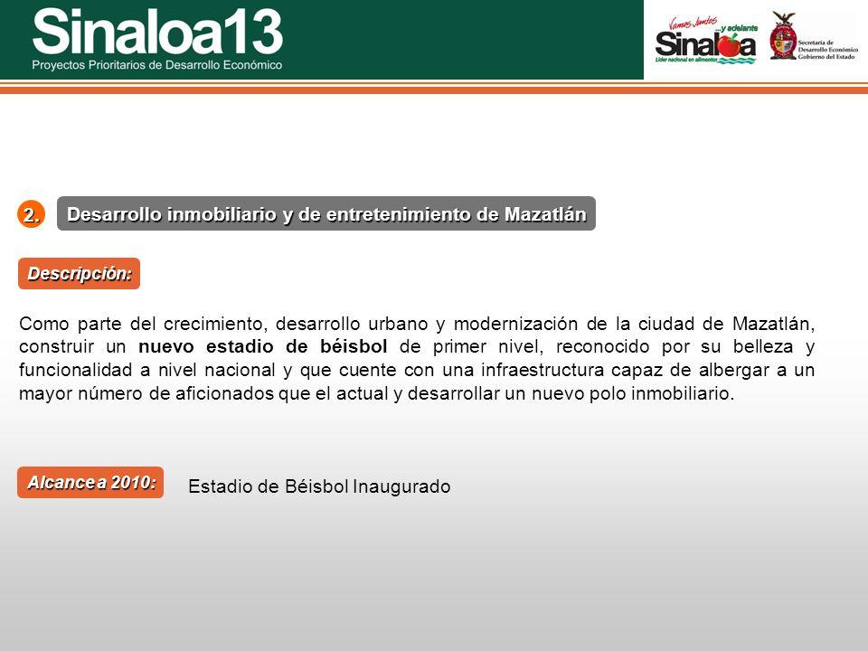 Desarrollo inmobiliario y de entretenimiento de Mazatlán