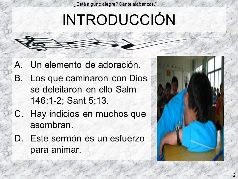 INTRODUCCIÓN Un elemento de adoración.