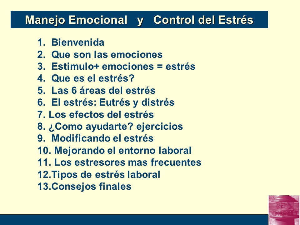 Manejo Emocional y Control del Estrés
