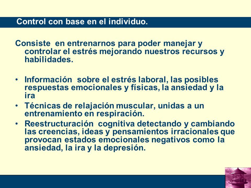 Control con base en el individuo.