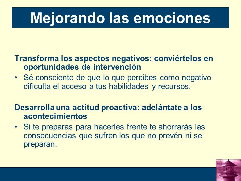 Mejorando las emociones