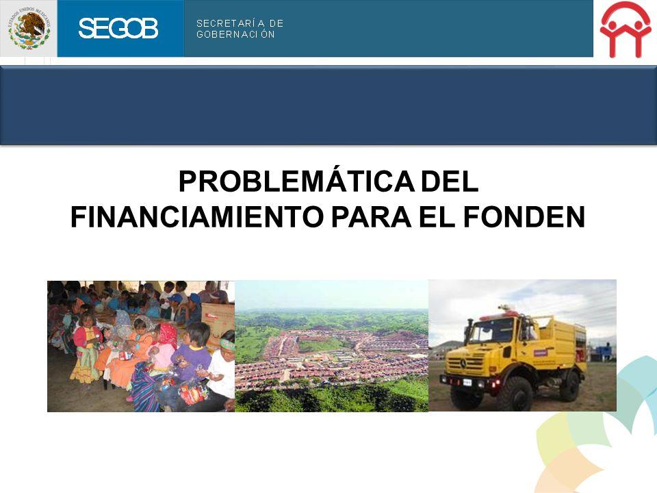 PROBLEMÁTICA DEL FINANCIAMIENTO PARA EL FONDEN