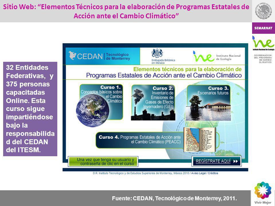 Sitio Web: Elementos Técnicos para la elaboración de Programas Estatales de Acción ante el Cambio Climático