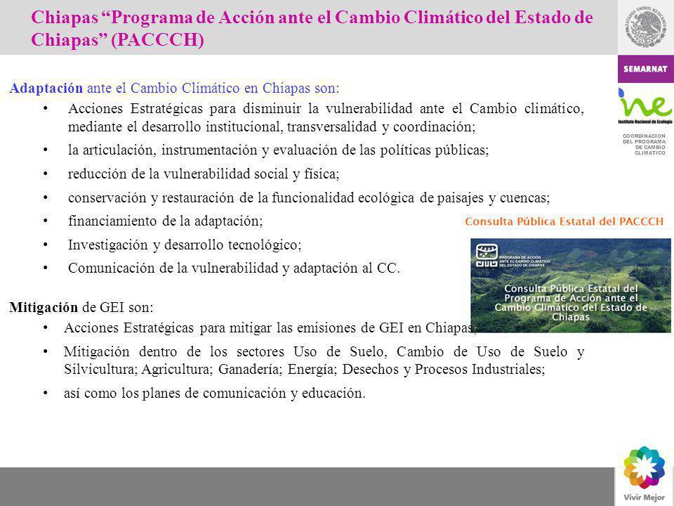 Chiapas Programa de Acción ante el Cambio Climático del Estado de Chiapas (PACCCH)