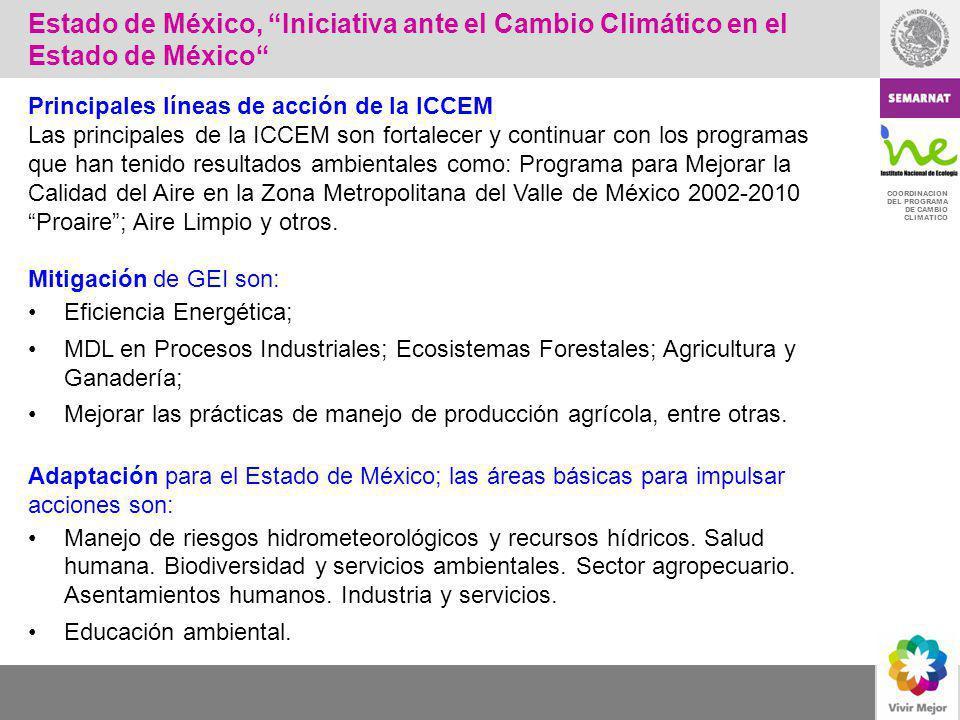 Estado de México, Iniciativa ante el Cambio Climático en el Estado de México