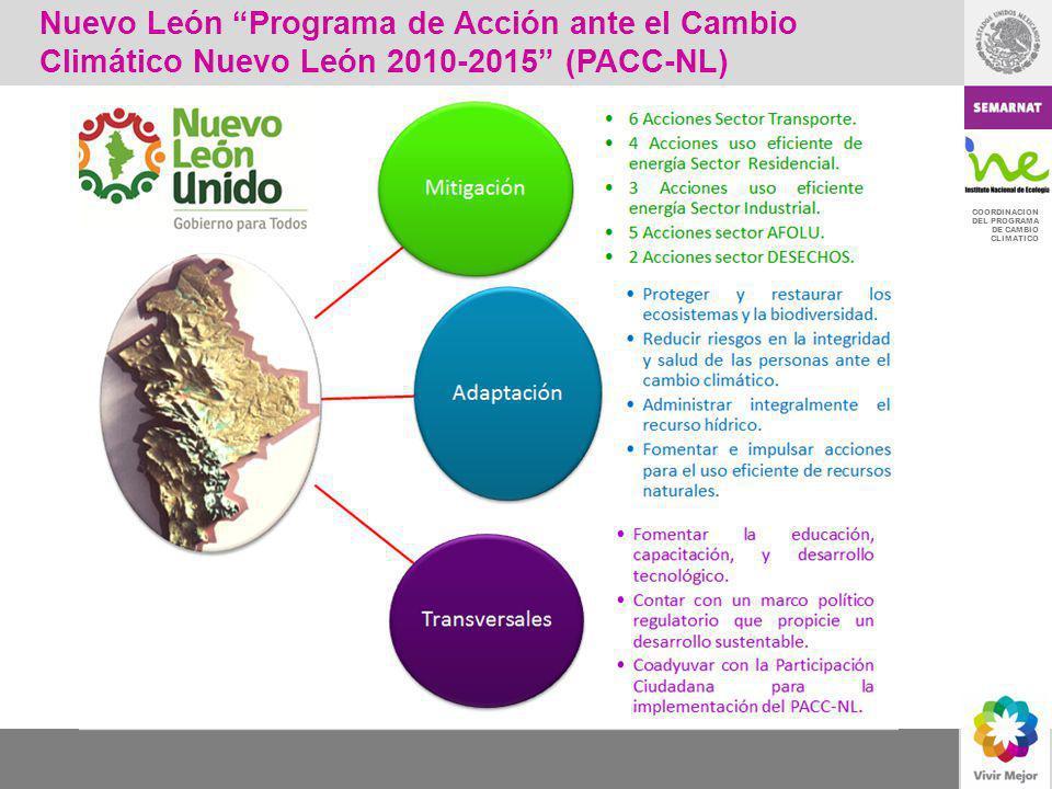 Nuevo León Programa de Acción ante el Cambio Climático Nuevo León 2010-2015 (PACC-NL)