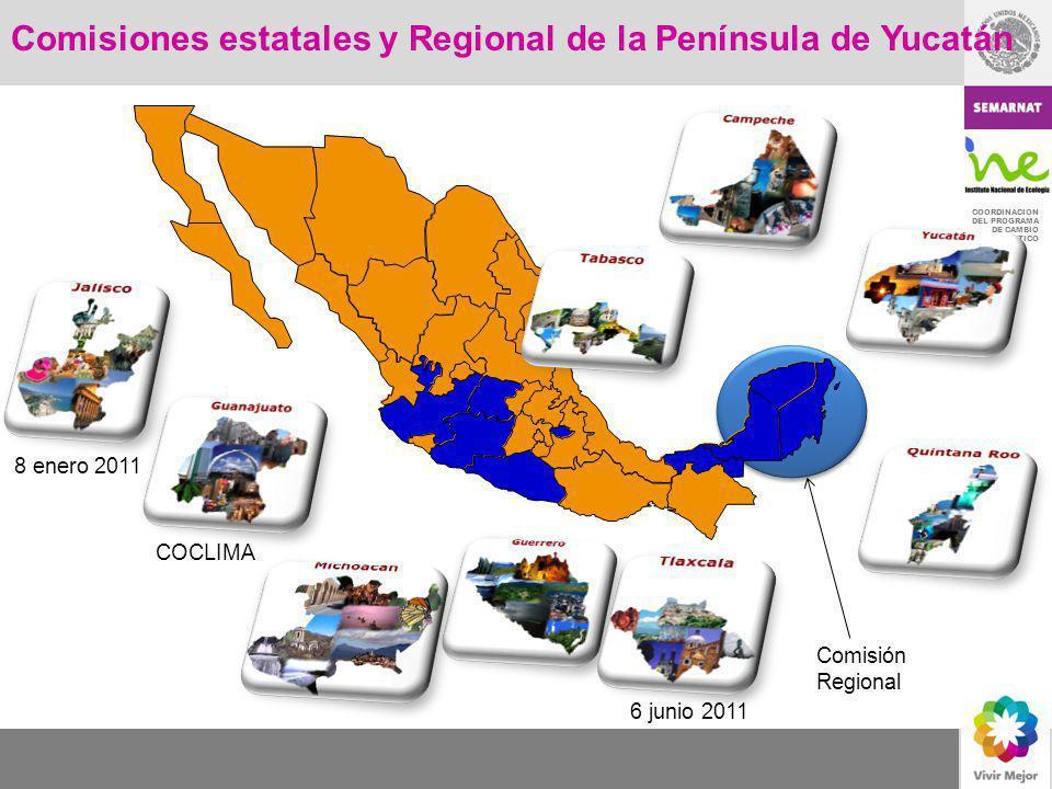 Comisiones estatales y Regional de la Península de Yucatán