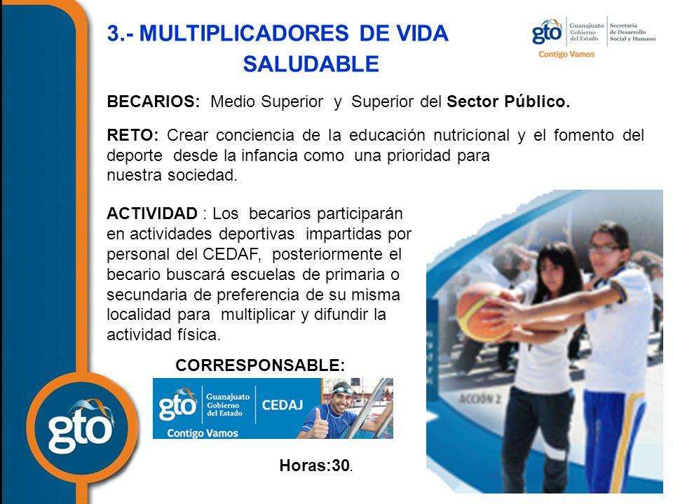 3.- MULTIPLICADORES DE VIDA SALUDABLE