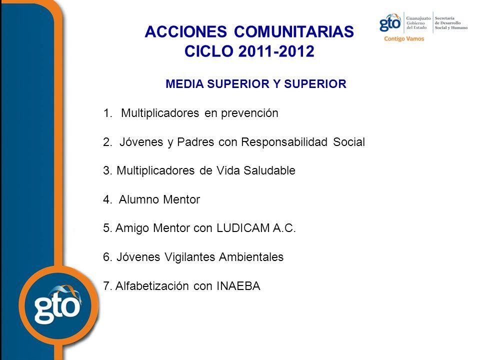 ACCIONES COMUNITARIAS MEDIA SUPERIOR Y SUPERIOR