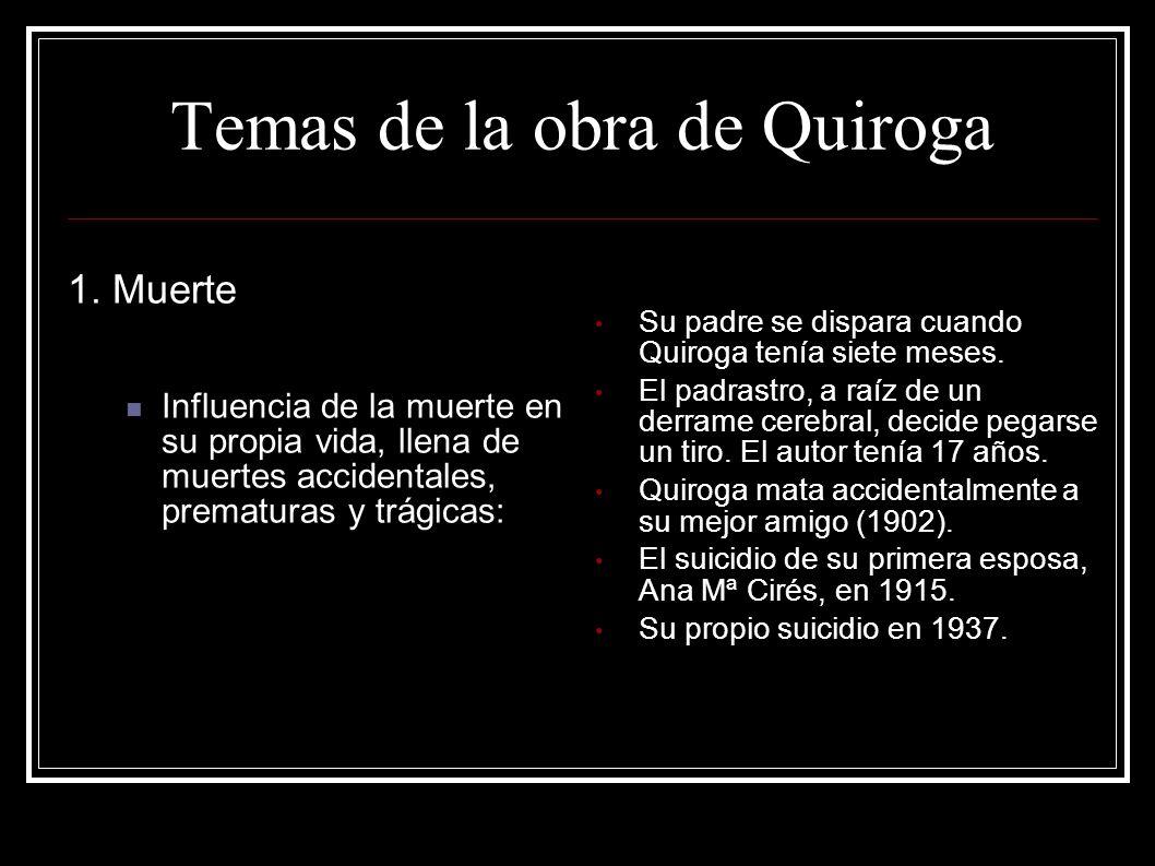 Temas de la obra de Quiroga